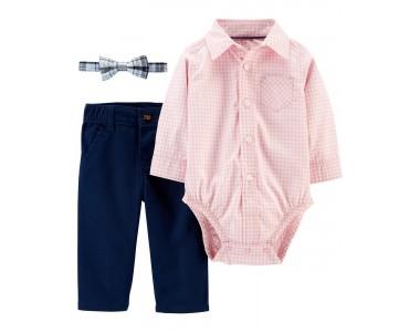 1h312010 рубашка-боди, брюки и галстук-бабочка