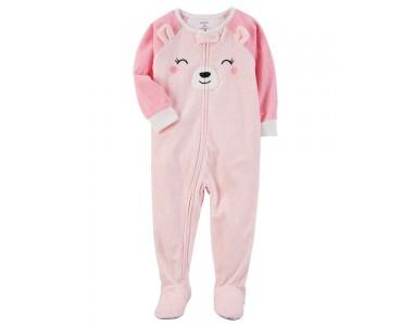 337G273 флисовая пижамка (слип) с аппликацией медвежонка