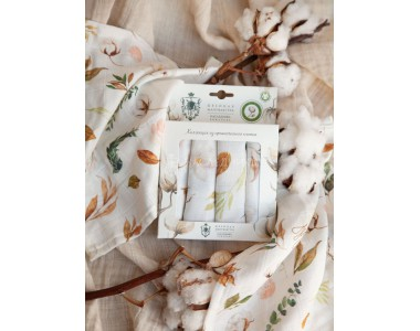 018- 091-ХЛ Платочки муслиновые (4шт.)