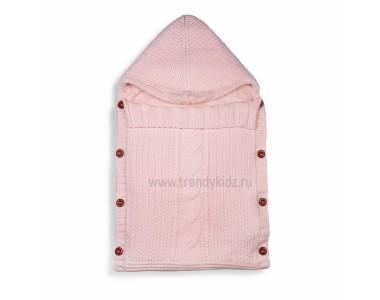 Тёплый вязанный конверт (Розовый)
